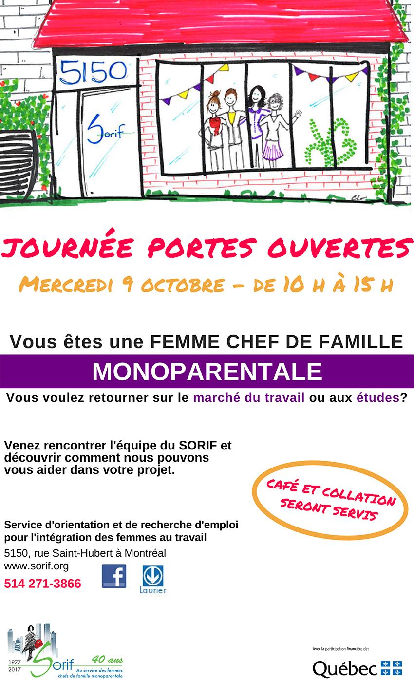 Journée portes ouvertes - Mercredi 9 octobre de 10 h à 15 h